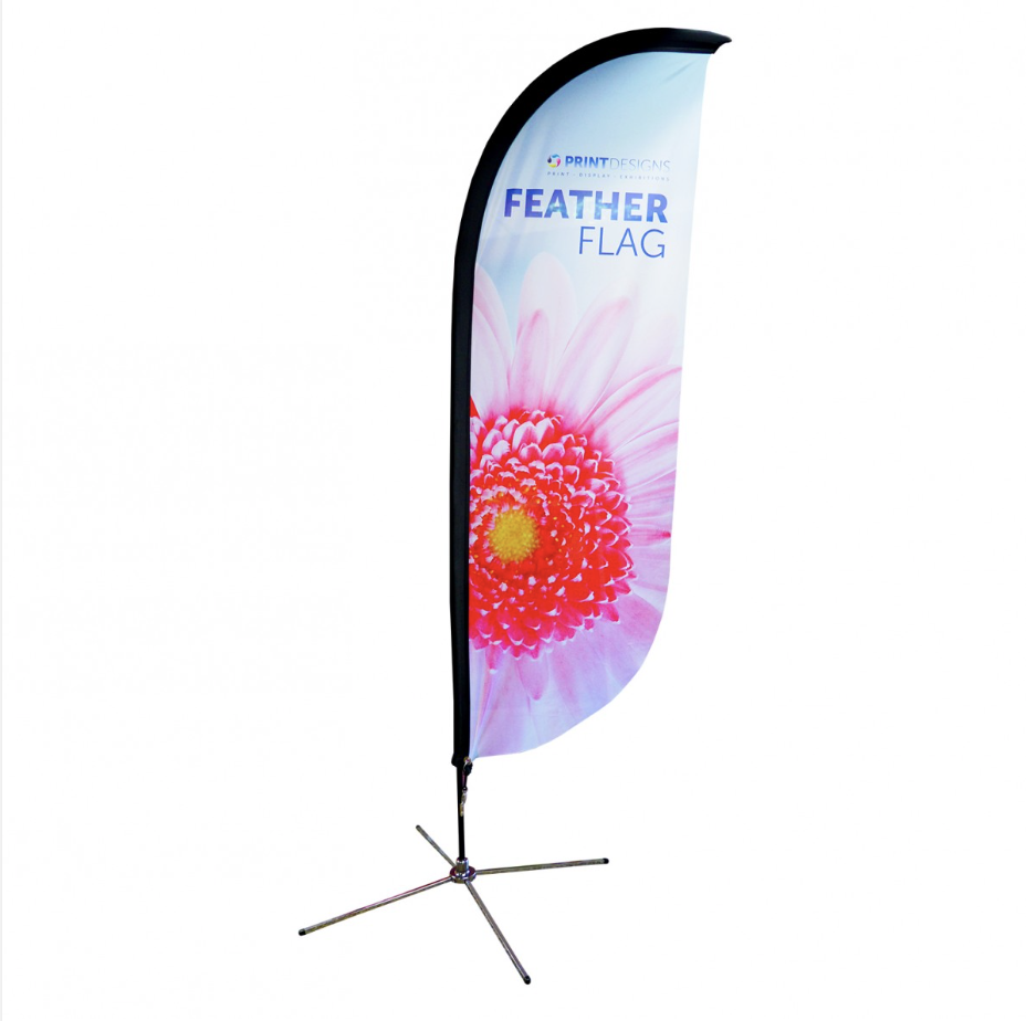 Image showing a feather flag available online from Printdesigns