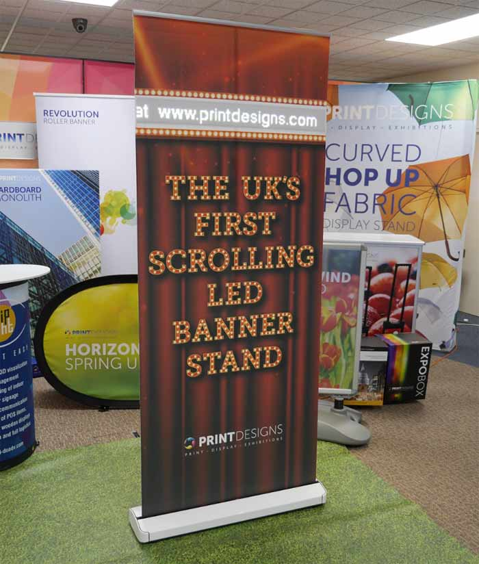 Image showing the Exclusive LED Scroller Banner from Printdesigns