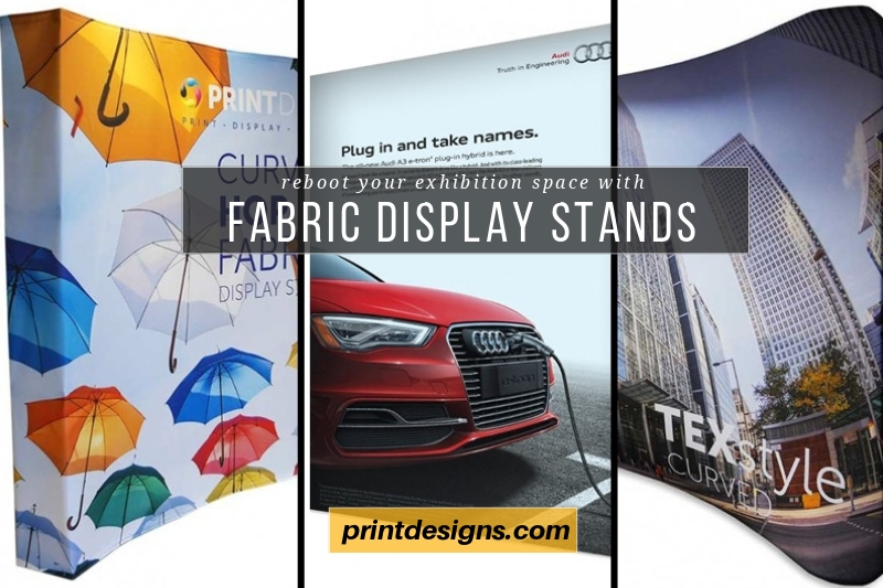 Fabric display stands from Printdesigns