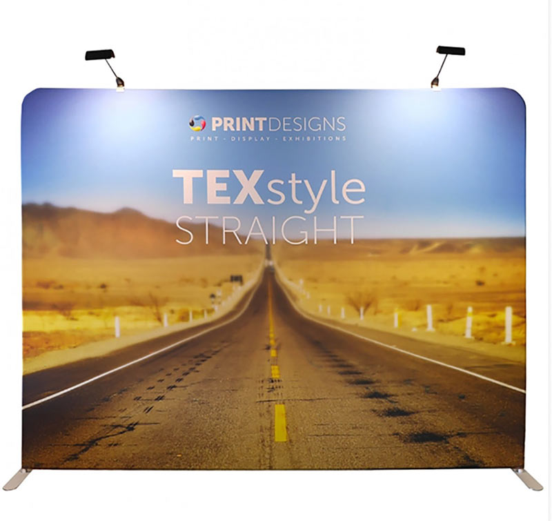 Texstyle straight fabric stand from Printdesigns