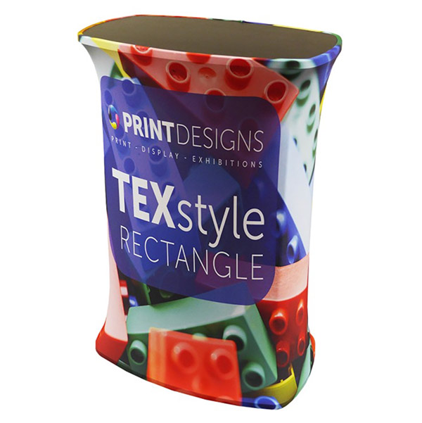 Image of a fabric Pop Up counter used in a blog post about exhibition accessories from Printdesigns