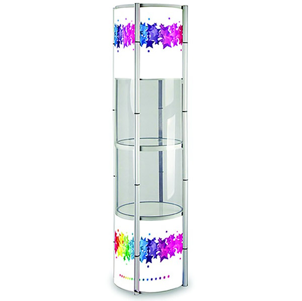 Image of the Spiral Exhibition Display System as an exhibition accessory from Printdesigns